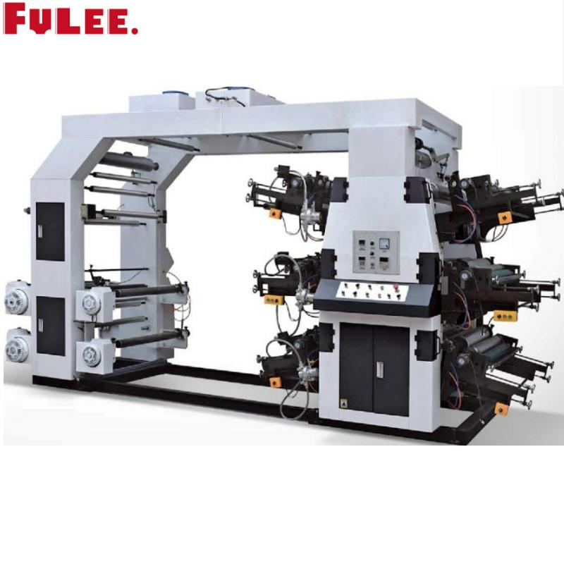 YT SERIES 6 COLOURS MEDIUM SPEED STACK TYPE FLEXO PRINTING MACHINE Featured Image